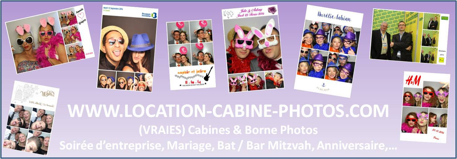 Location de cabine photos type photomaton photobooth & photocall